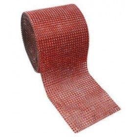 Ruban Strass rouge 12cmX9M