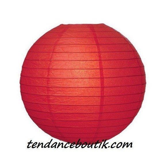 Boule Lampion papier rouge 40cm