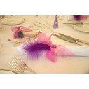 Plume violet décoration (sachet de 20)