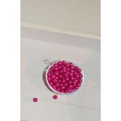 perles décoration de table fushia (sachet de 100)