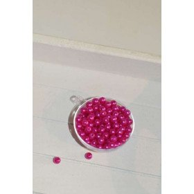 perles décoration de table fushia (sachet de 100)