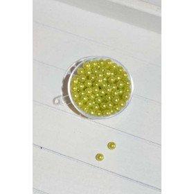 perles décoration de table vert anis (sachet de 100)
