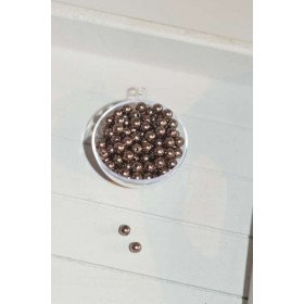 perles décoration de table marron (sachet de 100)