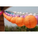 Boule Lampion papier orange 30cm