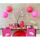 Boule Lampion papier rose fushia 30cm
