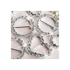Boucle strass ronde