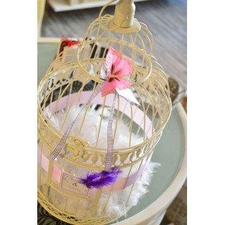 cage oiseau déco mariage et urne grand modèle
