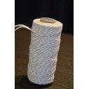 Ficelle coton baker twine ivoire et blanc 100m