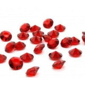 Diamant déco de table rouge 8mm (25g env.)