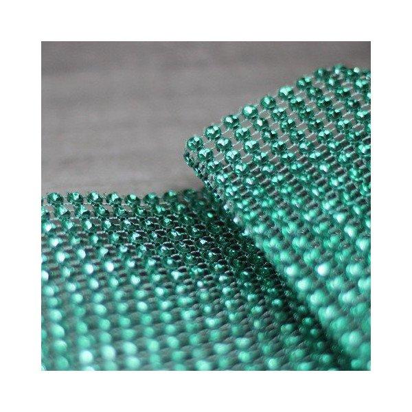 Ruban strass vert emeraude 12cmX9M