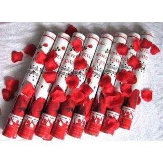 Canon à confettis de pétales de roses