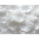 Pétales de roses artificielles Blancs (sachet de 50)