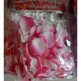 Pétales de roses mariage Fushia et blanc(sachet de 50)