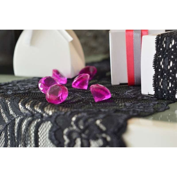 Diamant déco de table fushia 18mm sachet de 350g