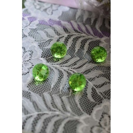 Diamant déco de table vert anis 18mm sachet de 350g