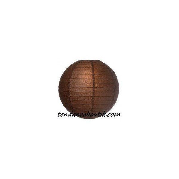 Boule Lampion papier marron 40cm
