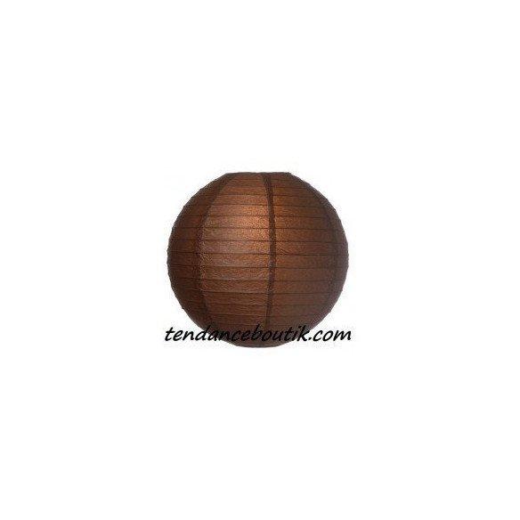 Boule Lampion papier marron 30cm