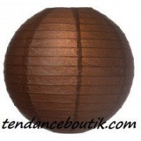 Boule Lampion papier marron 30cm