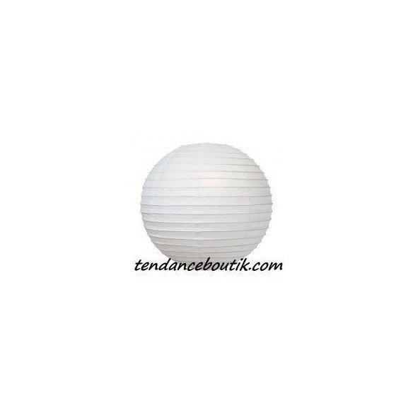 Boule Lampion papier blanche 30cm