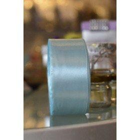 Ruban satin bleu clair 40mm