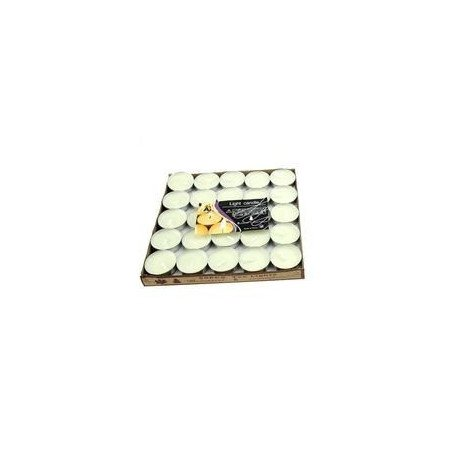 Bougie chauffe plat blanche (paquet de 50)