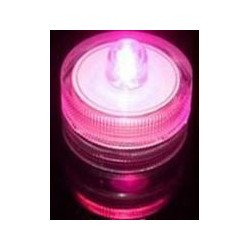 Bougie à LED waterproof Fushia