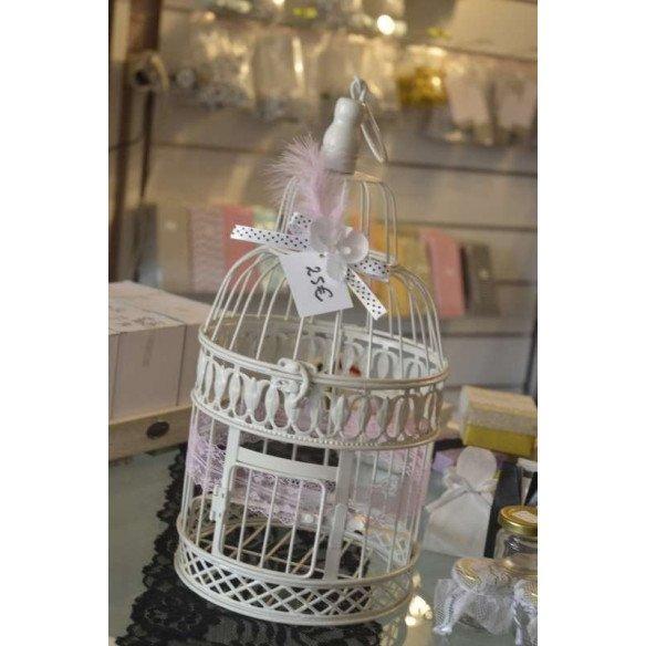 cage oiseau déco mariage et urne petit modèle