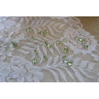 Diamant déco de table vert clair 8mm (200pcs)