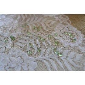 Diamant déco de table vert clair 8mm (200pcs environs)
