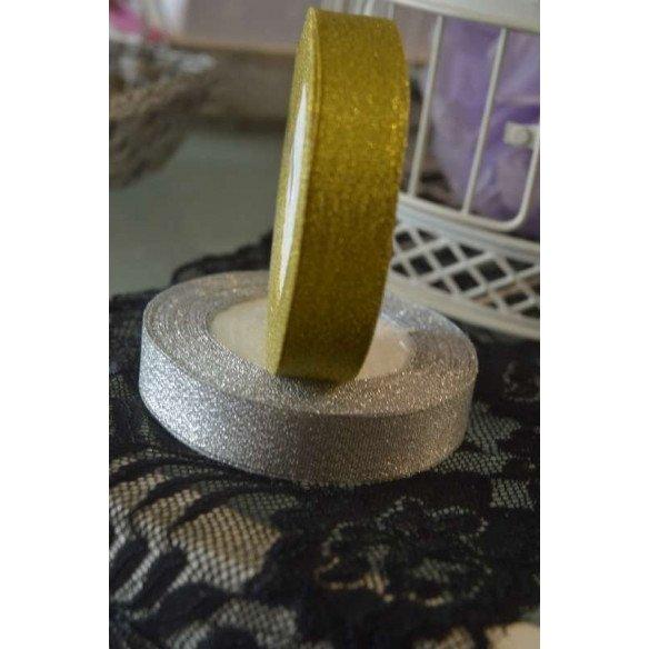 Ruban brillant métallisé doré 2cmX20m
