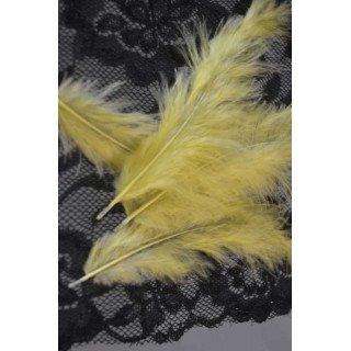 Plume jaune décoration (sachet de 20)
