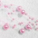 Guirlande de perles rose (42 mètres)