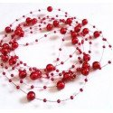 Guirlande de perles rouge