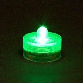 Bougie à LED waterproof vert clair