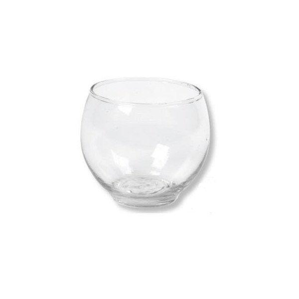 Photophore en verre boule ronde