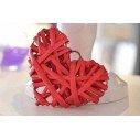coeur en rotin 10cm (6 coloris)