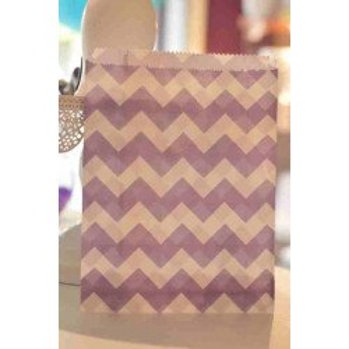 Sachets bonbons diagonale bleu pastel et blanc X10