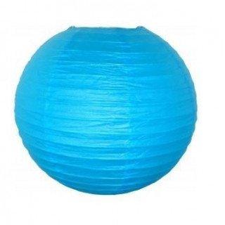 Boule papier bleu turquoise 30cm