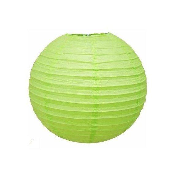 Boule Lampion papier vert anis 30cm