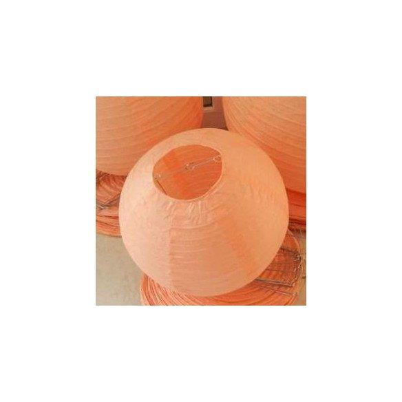 Boule Lampion papier pêche 30cm