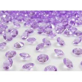 Diamant déco de table violet 8mm (200 pcs)
