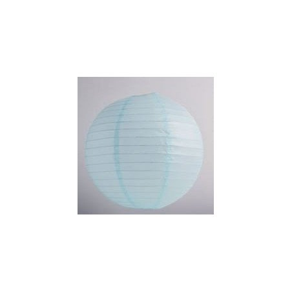 Boule Lampion papier bleu ciel 30cm