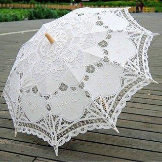 ombrelle dentelle coton blanche