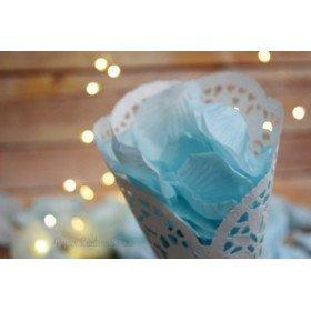 Pétales de roses en bleu clair (sachet de 50)