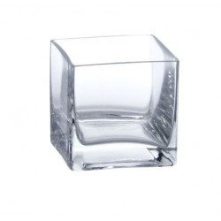 Vase carré en verre 8cmx8cm