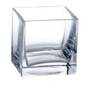 Vase carré en verre 10cmx10cm