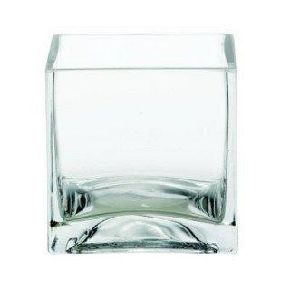 Vase carré en verre 12cmx12cm