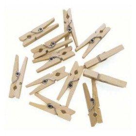 Mini pinces bois couleur naturel