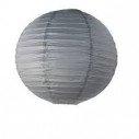 Boule lampion papier gris 40cm
