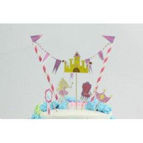 Décoration gâteau anniversaire thème princesse
